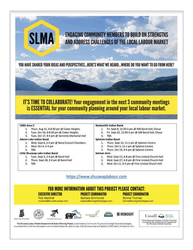 More confirmed dates and locations from the SLMA project