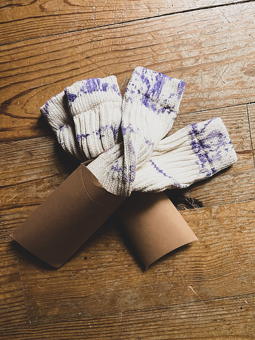 Lavender + Cream Tie Dye Slouch Socks