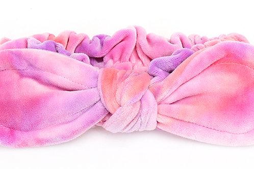 tie-dye color soft fleece headband