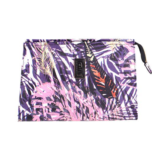 Marissa Cosmetic Bag Feathers