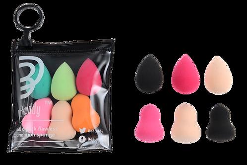6 pcs Mini Blender Cosmetic Sponge