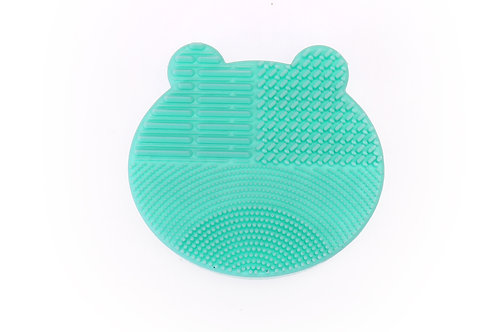silicone brush cleaner and holder