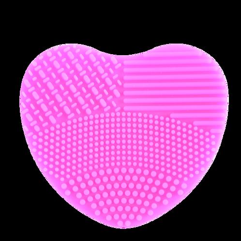 Heart glove brush cleaner