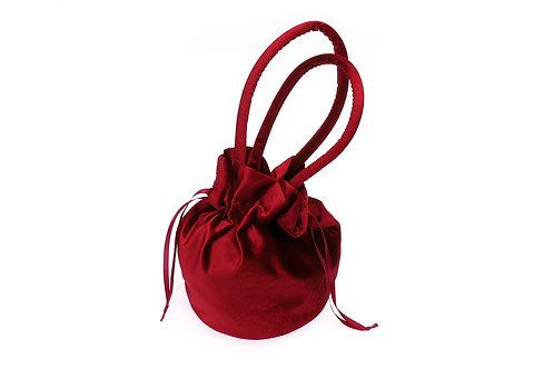 velvet round pouch