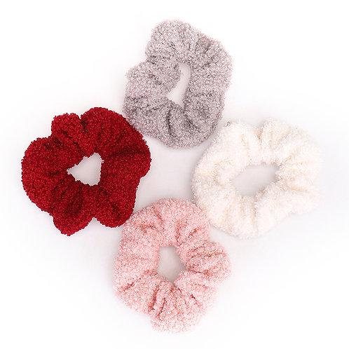 teddy fleece scrunchie