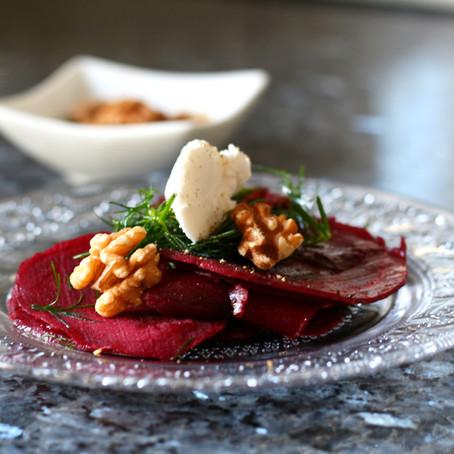 Rote Beete Salat mit veganem Frischkäse
