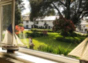 Guest Lounge Window Overlooking Garden