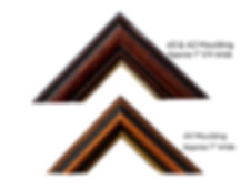Two Types Of Moulding Available to Frame The Prints With