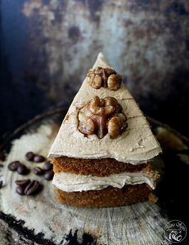 Homemade Coffee & Walnut Cake