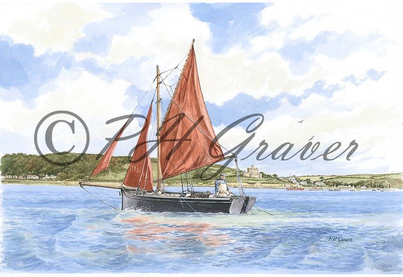 FWB#03 Oyster Boat In Carrick Roads