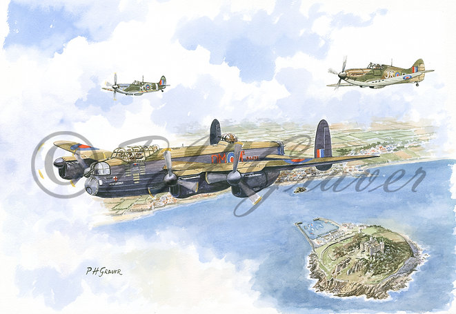 A#03 The Battle Of Britain Memorial Flight Over Cornwall