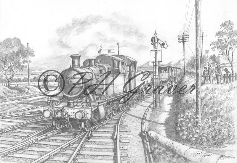 MAT#11 St Dennis Junction Cornwall Pencil Drawing