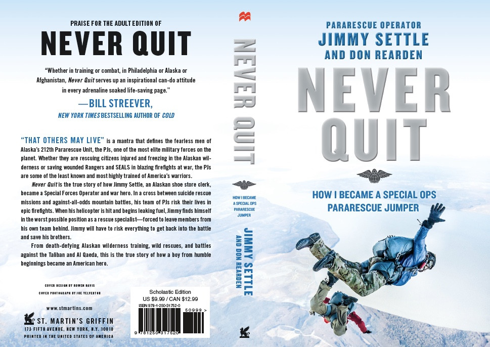 Scholastic Cover of Never Quit