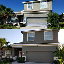 Before and After of Exterior Paint
