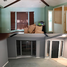 Before & After Interior Living Room
