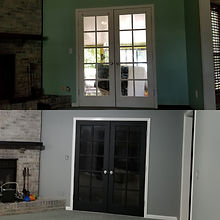 Before and After Living Room Doors