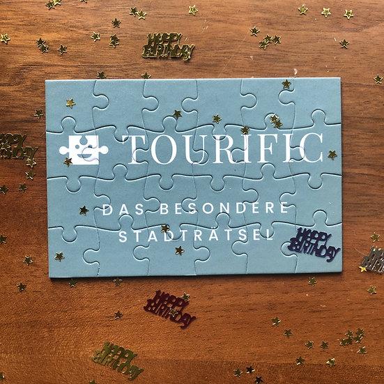 Puzzle Gutschein Tourific Geschenkgutschein Geburtstag Rätsel Rätselspaß Hamburg Besonderes Geschenk