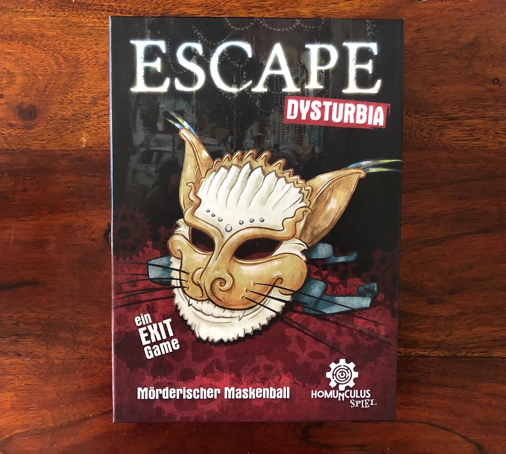 Escape Dysturbia homunculus verlag Mörderischer Maskenball Brett Escape Game