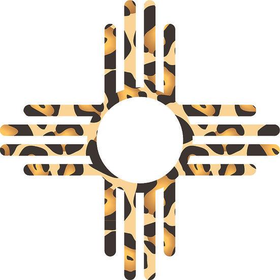 Cheetah Print Zia Symbol Decal 3x3