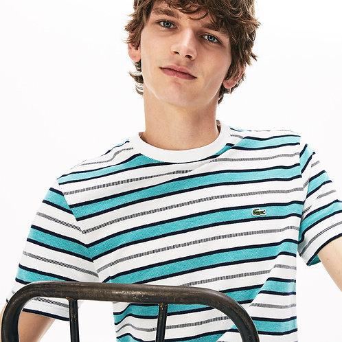 T-shirt da uomo con collo rotondo a righe