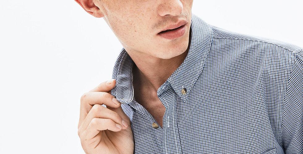 Camicia da uomo in cotone a quadretti regular fit
