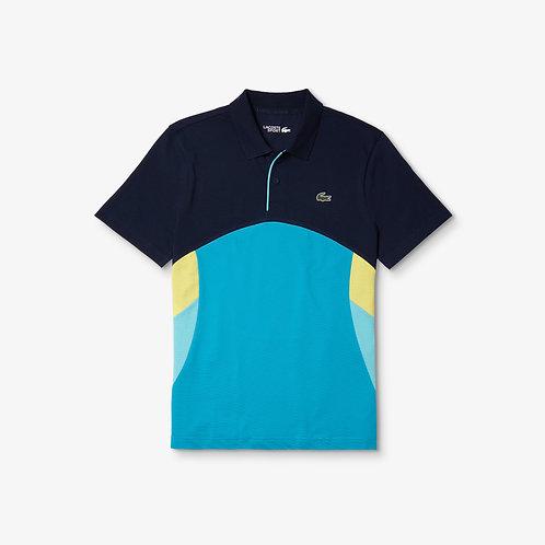 Polo da tennis da uomo in cotone color block ultra leggero Lacoste SPORT