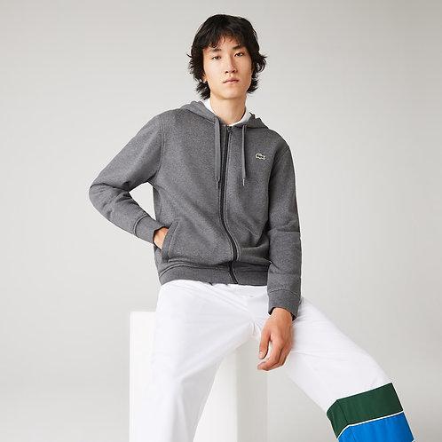 Felpa da uomo bi-materiale leggera con cappuccio