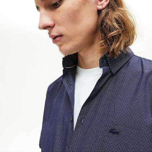 Camicia da uomo in cotone testurizzato regular fit