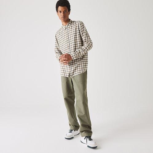 Camicia da uomo in cotone a quadri regular fit