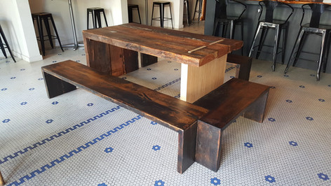 Old Pine Beam Table