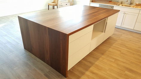 Walnut Waterfall Countertop