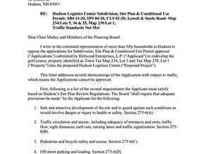 SaveHudsonNH Lawyer Provides a List of Legal Requirements the Proposal Must Meet to Pass Approval
