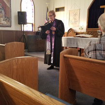 Pastor Cathy Manthei Begins the Installation Servicethe Ordination Service