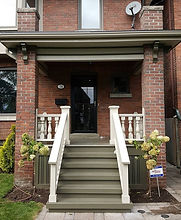 Final Porch of the Year #before #after #torontopainting #torontoconstruction #newlook #freshpaint  #