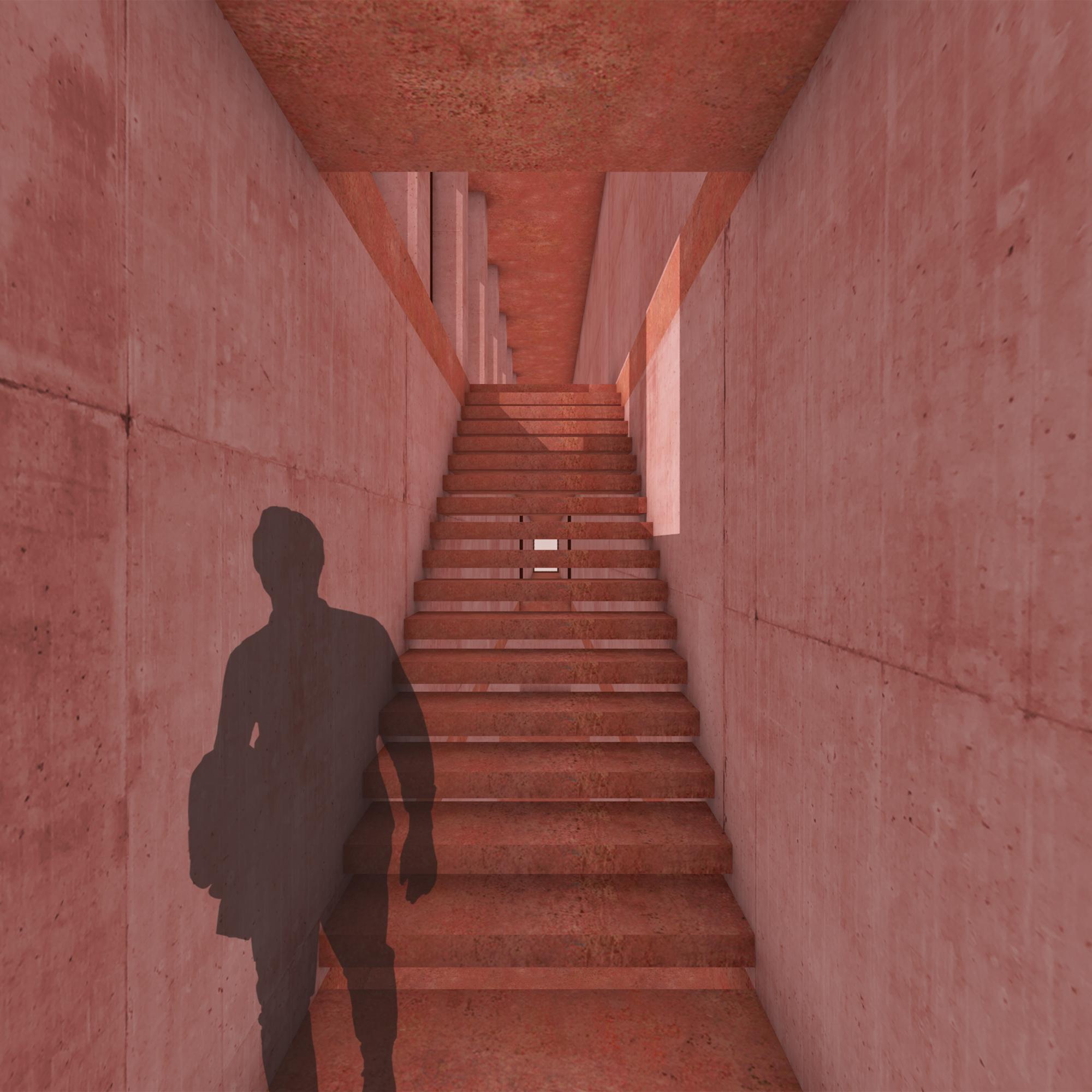 trap naar verdieping 2