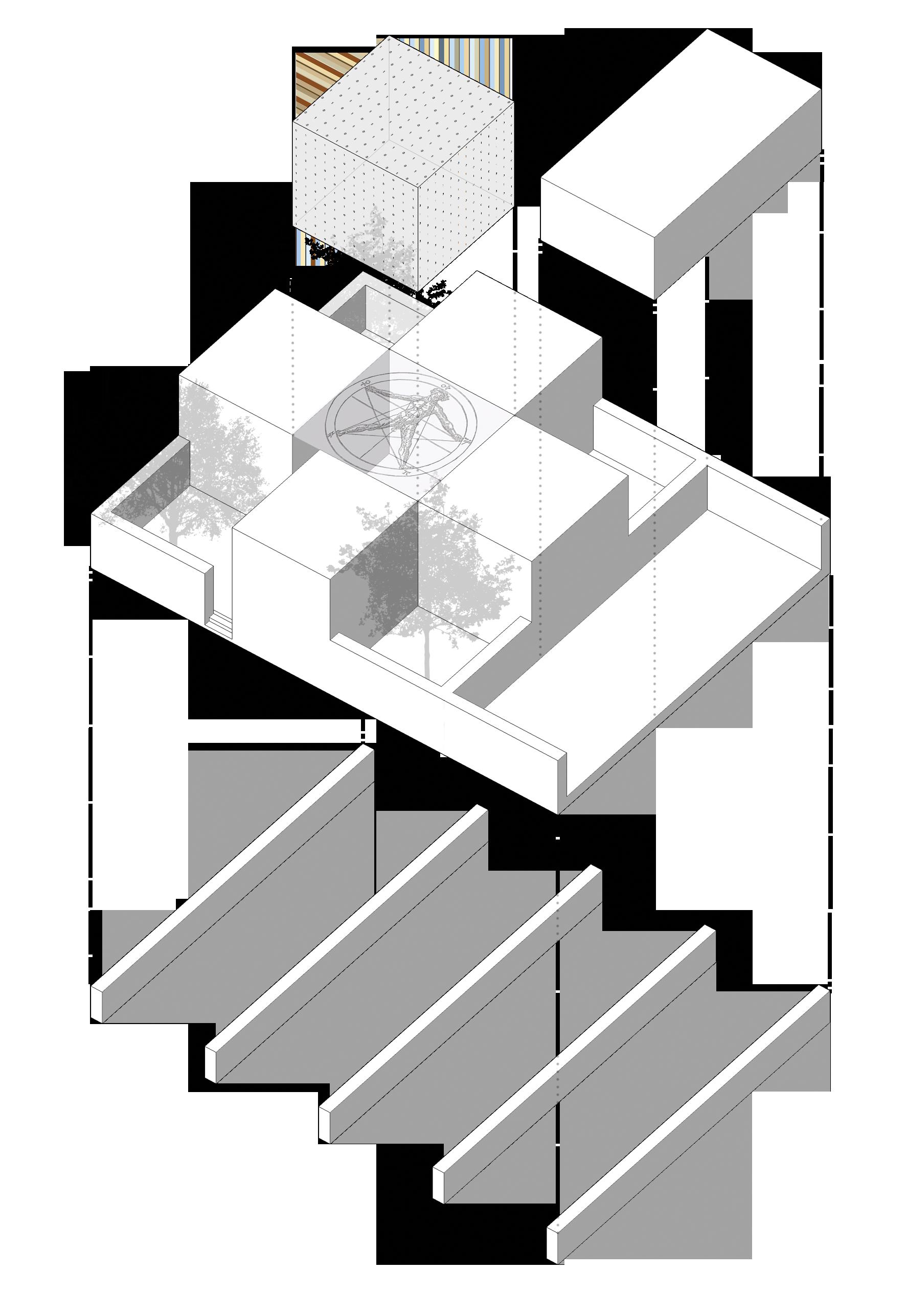 fundamental grid, woning, intermediate ruimte en add-on ruimte