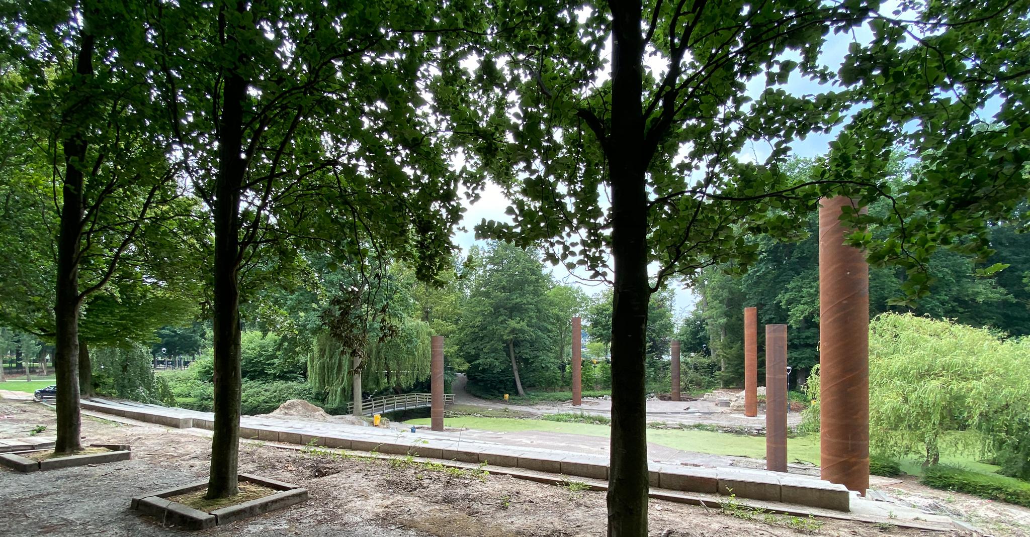 kolommen en boomstammen