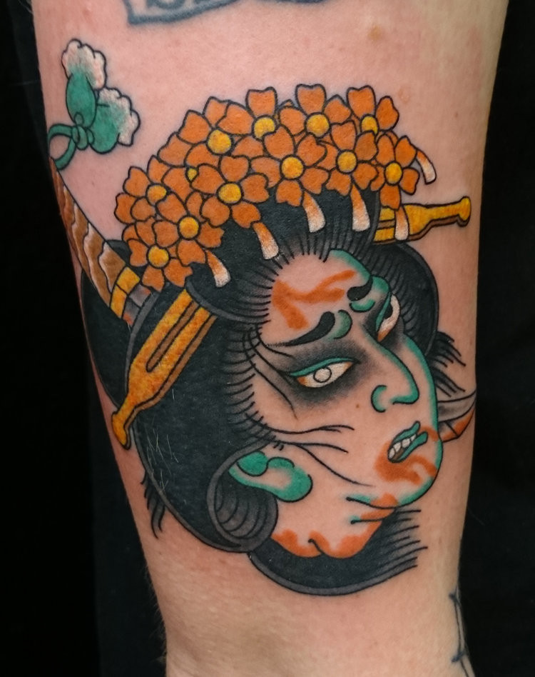 3fe772bc6434d Ben has also traveled and tattooed through the States, Europe and Asia. The  style Ben prefers to tattoo Traditional Japanese.