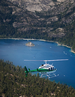 Helicopter Ceremony - Lake Tahoe wedding packages