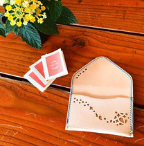 オーダー。カードケース…さわやか🌿__#leather #handmade #