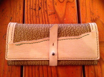 おさいふ…__#Leather  #handmade #leathercraft