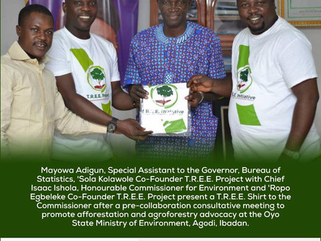 T.R.E.E. Project Opens Discussion with Oyo State Ministry Of Environment on Climate Change