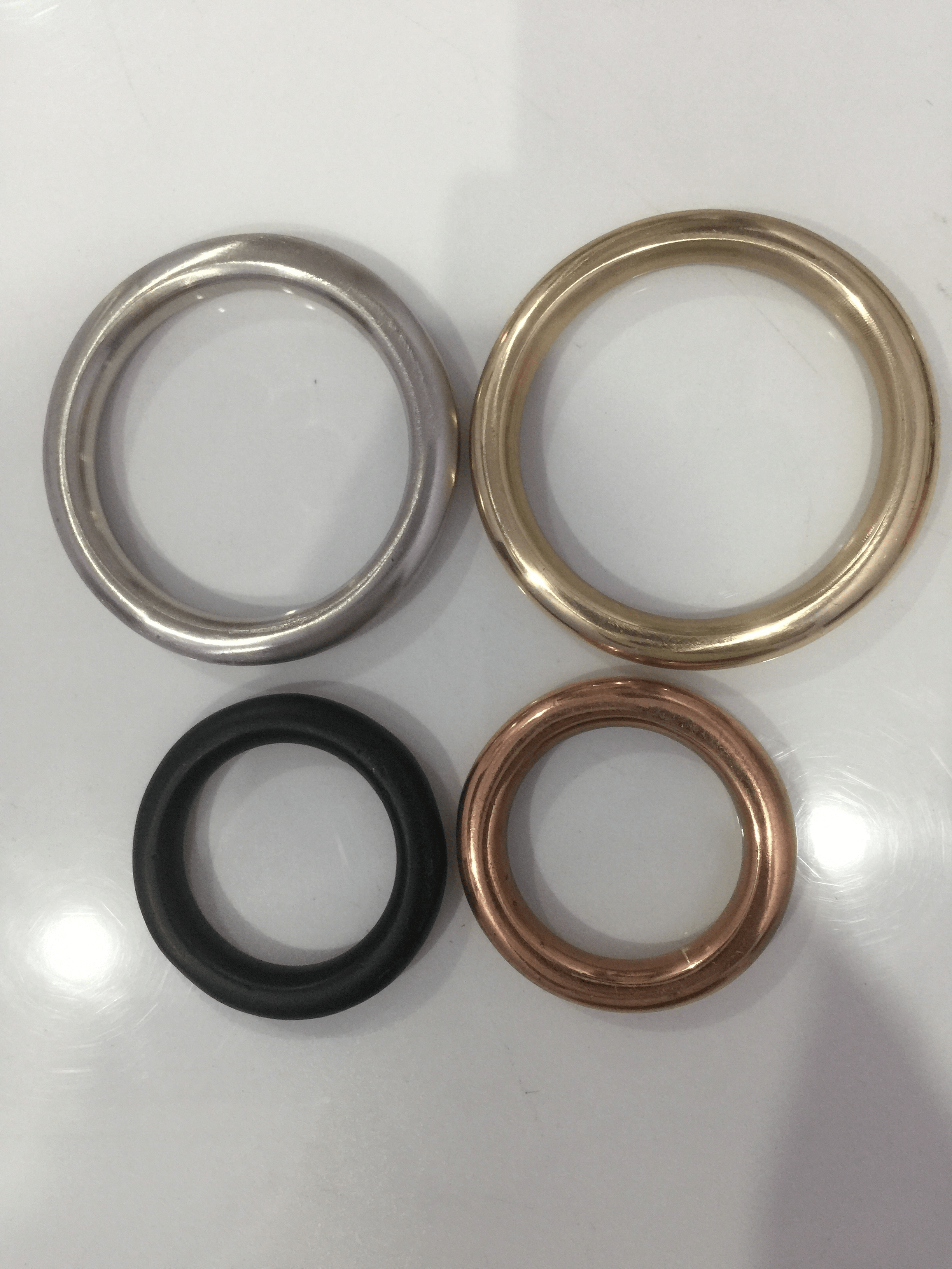 Brass Curtain Rings, Rods and Holdbacks