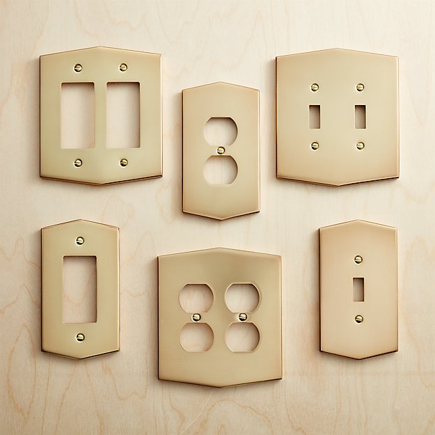 Forged Brass Wall Switch Plate Covers
