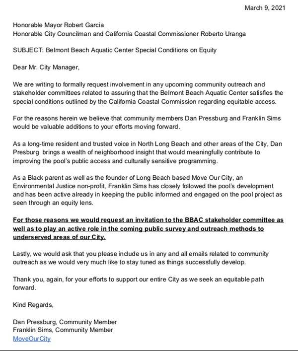 Request for BBAC Public Engagement