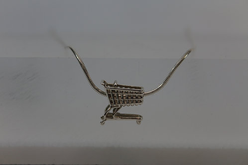 Shopping Cart Necklace -see our new web site for jewelry!