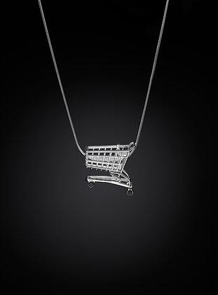 Large Shopping Cart Necklace
