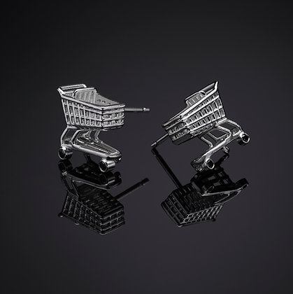 Shopping Cart Post Earrings !
