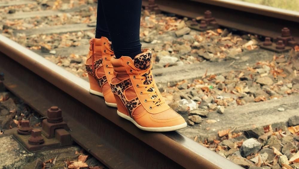 Walking on rail