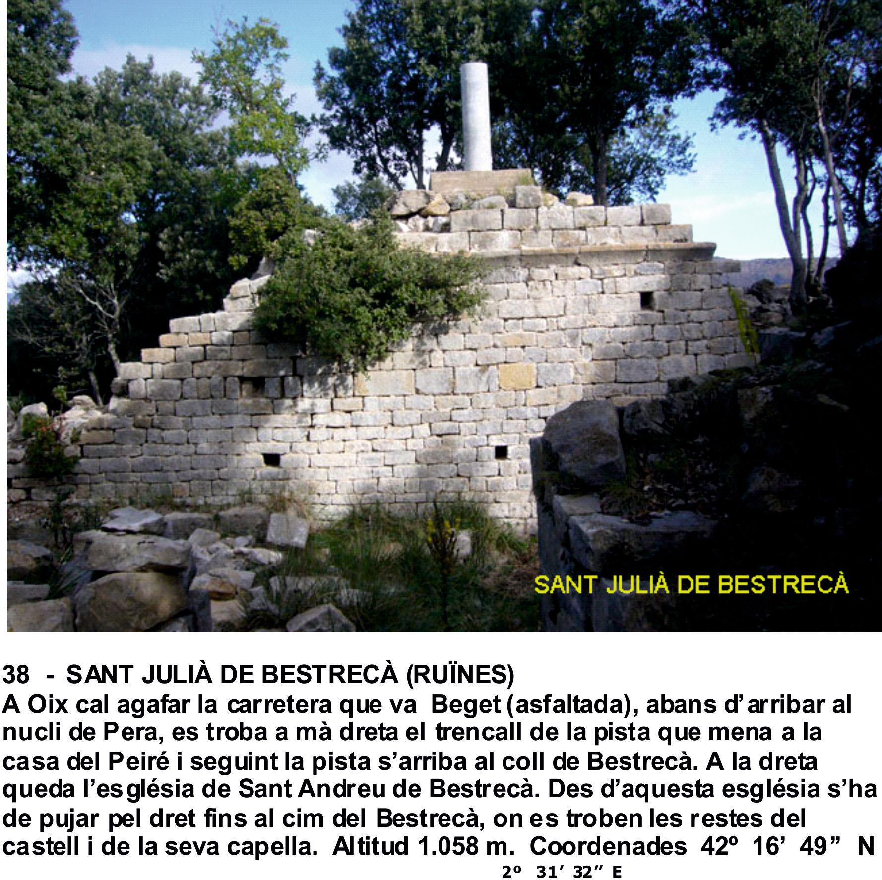 38  -  SANT JULIÀ DE BESTRECÀ (RUÏNES)